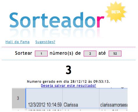 Sorteada - Menino