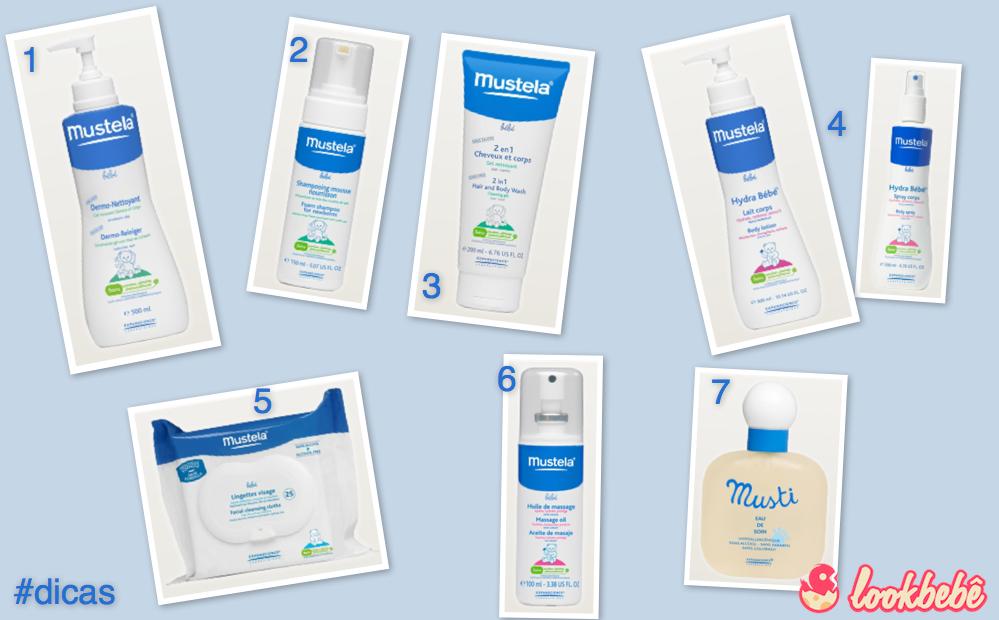 Alguns produtos da Mustela