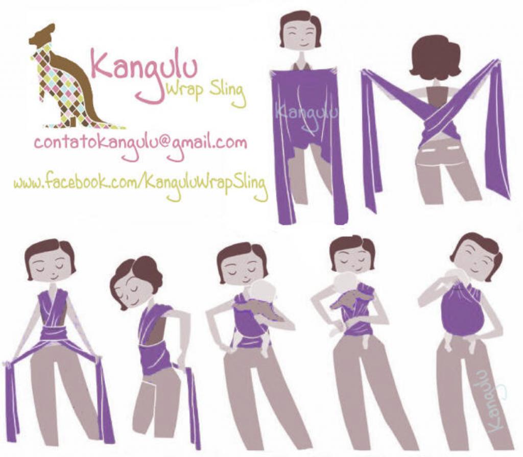 Guia de Bolso Kangulu Wrap Sling - Proibida reprodução