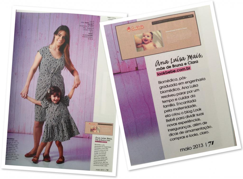 Matéria de moda na Edição Especial do Dia das Mães com blogueiras