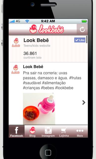 aplicativo de blog lookbebe materno