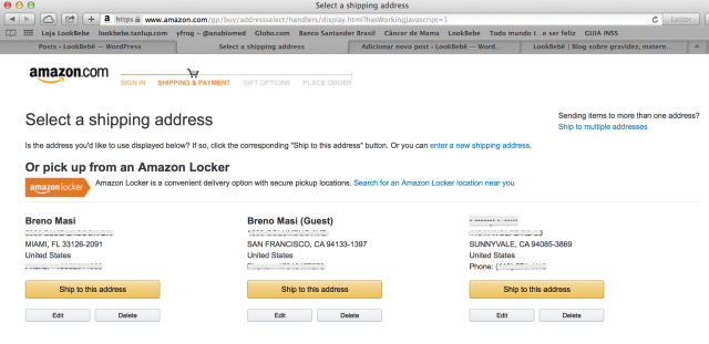 Amazon Locker compras EUA