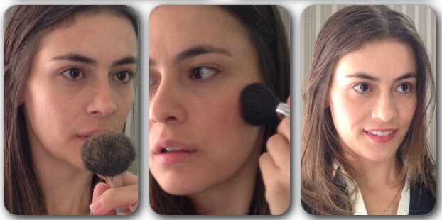 Pó blush batom maquiagem em 5 minutos