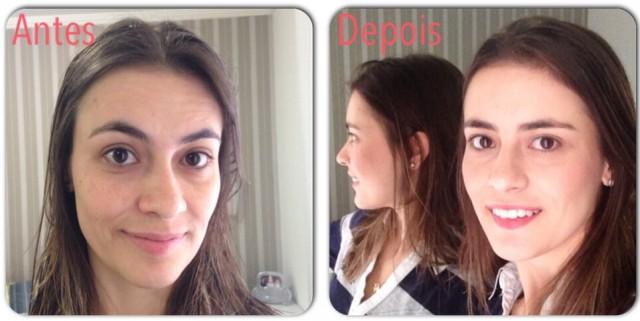 antes e depois maquiagem rapida