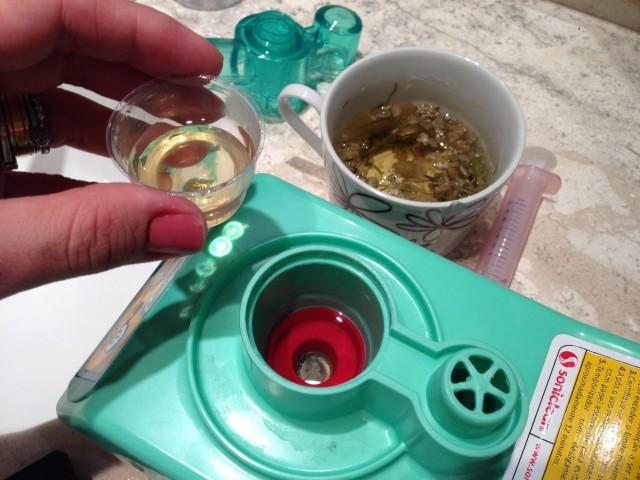 inalação com chá de camomila