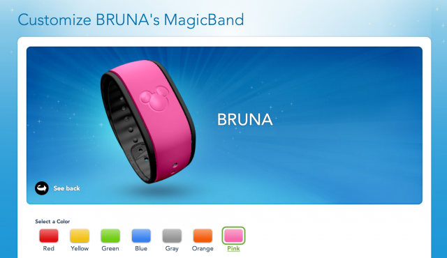 Magic Bands disney escolhendo