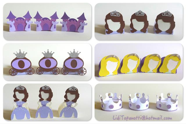 1 Festa Princesa Sofia forminhas personalizadas por Lidiane Topanotti