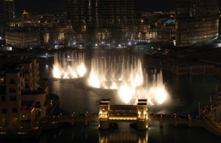 Dubai-Fountain-aerial