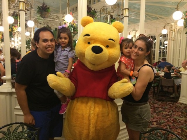 character dining almoço com personagem Disney pooh 3