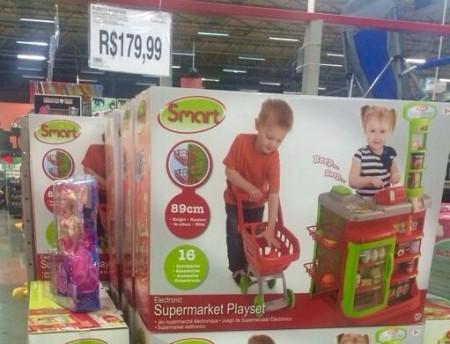 Supermercado para os irmãos brincarem juntos