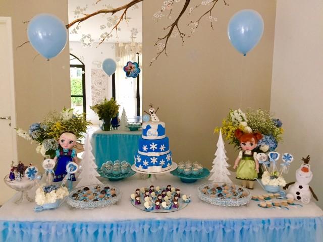 Festa frozen decoração