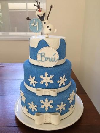 aluguel de bolo fake festa infantil frozen