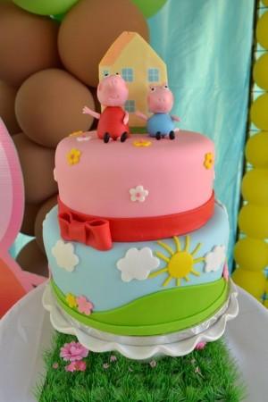 Peppa pig party festa bolo