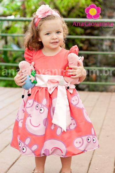 vestido de festa Peppa Pig