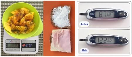 Um dos testes: Manga com Chia e sanduíche com pão integral - OK!