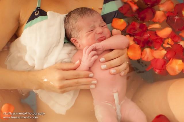 20 minutos depois de nascer