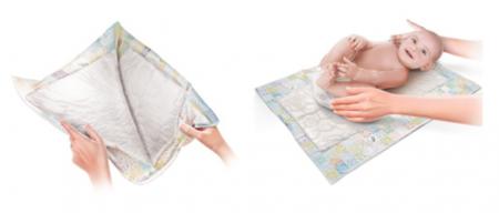 Lençol absorvente descartável (Foto)