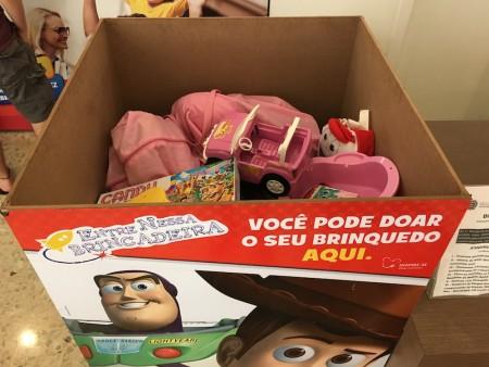 Brinquedos doados no Campinas Shopping