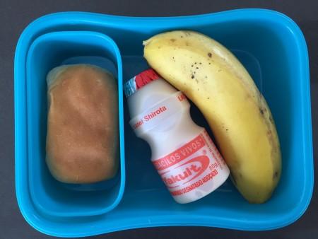 Banana + yacult + bisnaguinha