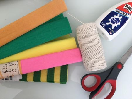 material para festa cortina de papel