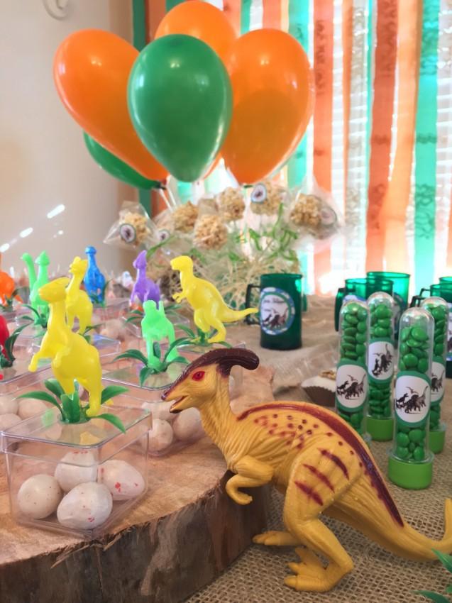 festa em casa dinossauro ovinhos de chiclete