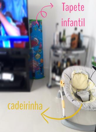 tapete infantil sala enrolado