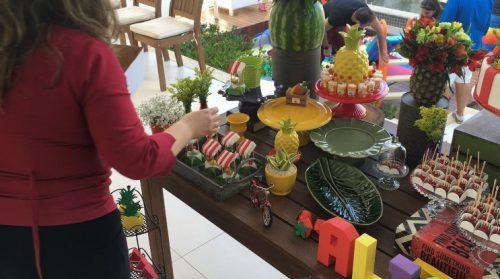 festa 1 ano em casa frutas quitandinha